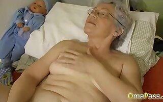 OmaPasS Big Natural Tits Played hard by Lesbians