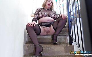Busty Nancy Trisha Solo Masturbation