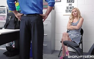 Pretty blond milf Aaliyah Love is punished for shoplifting