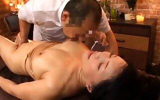Body Massage in an Asian Massage Parlor
