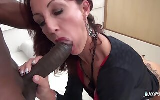 Lyna Cypher - Hot Hard Pussy And Ass Fuck With Amateur French Mature Floozy And Bbc