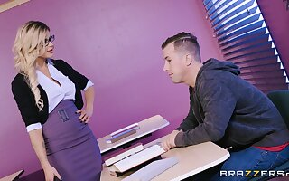 Teacher wants with attain be passed on best orgasms with her hot student