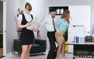 Amazing nude secretary fucks there her boss in pretty rough scenes
