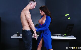 Hardcore fucking on the office table anent surprising Capri Cavanni