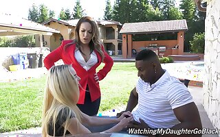 Teenager agrees to share this BBC give her sleazy mom