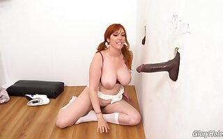 Flawless glory hole porn fro a charming MILF