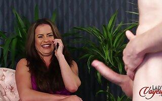 Dude with a throb schlong loves ribbing horny model Sarah Snow