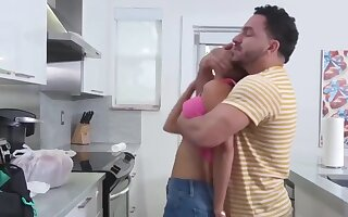 Step-son Bends Mom Over To Give His Gift