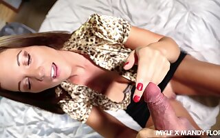 Bodacious MILF Mandy Flores has a harmonize body and that lady loves to roger