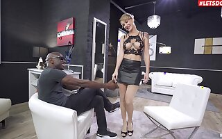 Busty blonde doll plays obedient notwithstanding of a BBC