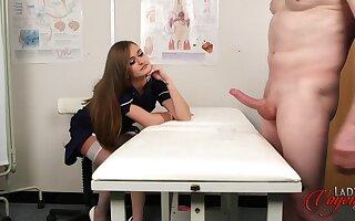 Nurse b like Exalt May enjoys watching her boyfriend stroke his dig up
