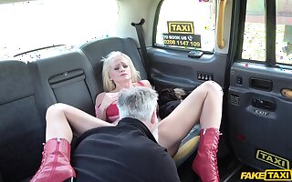 Fake taxi hardcore orgasms for the blonde mature wife