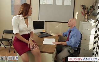 Hot Samoan milf Serena Ali seduces Johnny Sins and gets fucked on the office committee