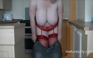 Cost acting a slut in peppery thong and stockings