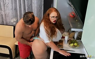 Fat redhead tries anal sex in a very intriguing home XXX