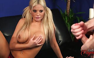 Nice tits and bore Emma C loves flashing her body less her boss