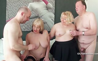 Two British mature blondes essay a foursome