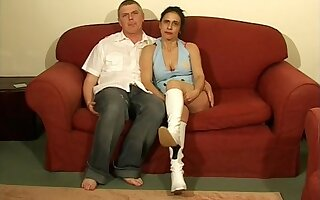 Lovable brunette Anna Milf spreads her legs to be fucked in missionary
