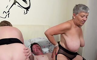 AgedLovE Two Busty British Matures Be wild about One Dick