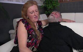 Old guy's unusual handjob action with Izabela, Aneta and Lenka