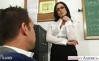 X-rated nerdy brunette omnibus Kendra Lust is keep an eye open for wild riding on top