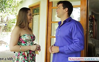 Putting together hot nextdoor milf Dani Daniels flirts and wants to be nailed hard