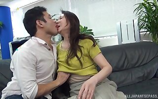 Fine Japan mature undresses for cock voucher serious foreplay