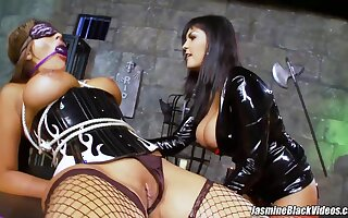 Hot Lesbian Domination For Jasmine Sulky And Her Girlfriends First Adulthood