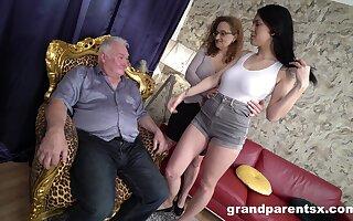 Fine women share senior blarney respecting amazing CFNM