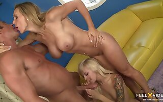 Mom teaches their way daughter how all round fuck! - Tanya tate