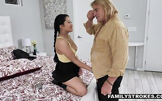 Asian niece Alona Bloom gets into pants of her step uncle Evan Stone