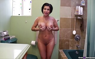 Stimulated MILF goes full mode on son's huge dong