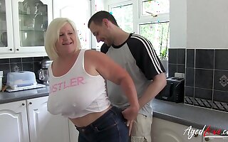 Fair-haired British Full-grown Lacey Starr Got Laid By Horny Youngster