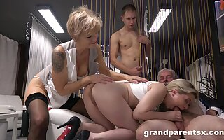 Amateur fuck fest with two couples who love to exchange their wives