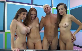 Farrah Flower and her two best friends getting fucked by one man