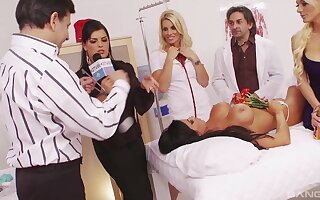 Large fuck fest with nurses in uniforms Jasmine Black and Sunny