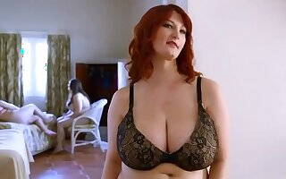 Redhead mom with big tits & hairy cunt