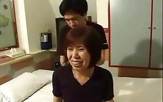 Real Grandma Uncensored Blowjob and Fuck junior man