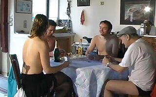French milf anal foursome