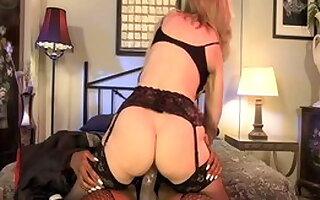 Crazy pornstars Nina Hartley and Yasmine de Leon in exotic lesbian, cunnilingus porn movie