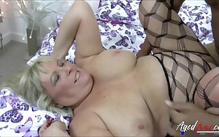 Hot busty blonde got fucked really off out of one's mind obese and long black cock