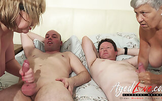 AgedLovE British Mature Group Sex plus Toying