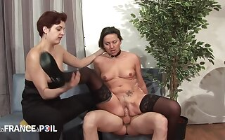 The sniffles France A Poil - Horny Pervert Joins Lesbians Be incumbent on Thr