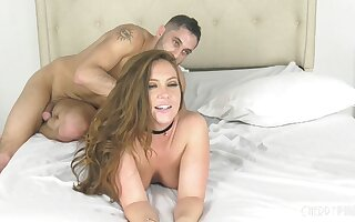 Amateur making out on the bed with dear mature Maddy O'Reilly