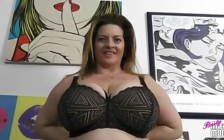 Obese titted woman, Maria Moore is issuing up up to get fucked, while the brush husband is busy