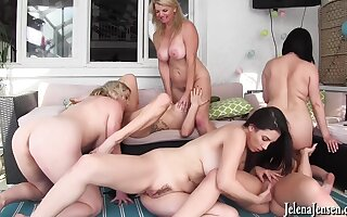 Hot lesbians MILFs meaningless group coition mistiness