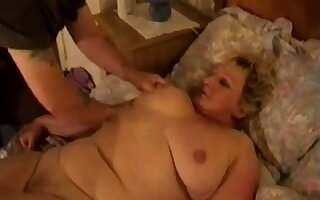 Chubby of age housewife gets the brush wet pussy fucked mish kick the bucket BJ