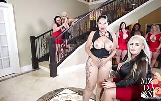 Mz Dani and 6 variant PAWGS Eat Pussy and Ass in Mansion